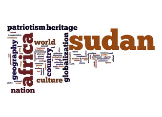Sudan word cloud