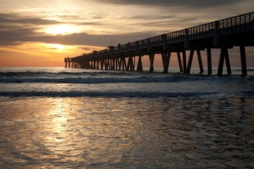 Fishing pier at the beach