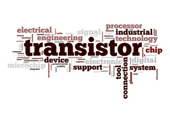 Transistor word cloud