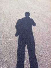 Schatten von einer Person