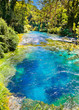 Blue Eye is a water spring in Delvine district, Albania. - 66813186