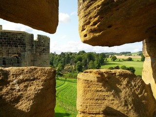 Alnwick castle battlements Northumberland