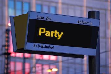 Anzeigetafel 1 - Party