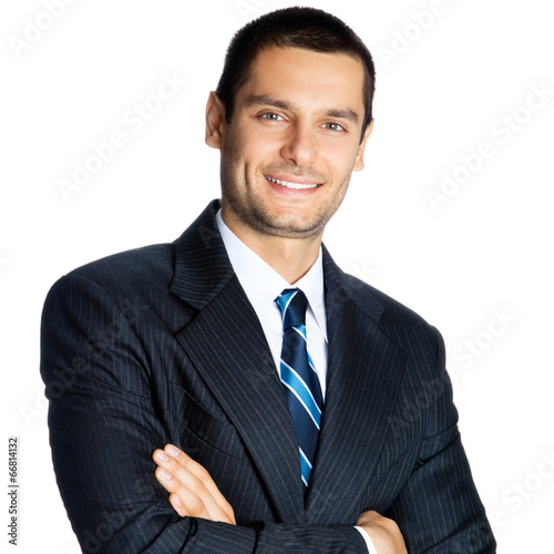 canvas print picture Businessman, isolated on white background