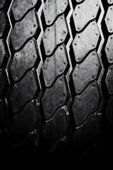 Car tire texture close up