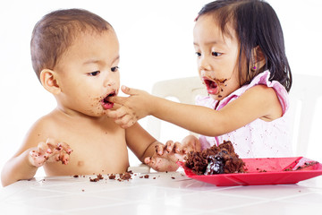 Cute Kids With Cake