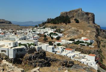 Вид на Линдос и акрополь
