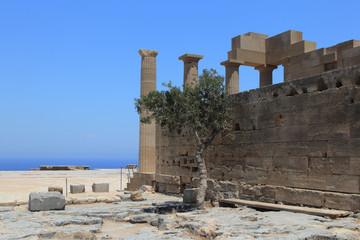 Храм на горе в Линдосе, Греция, Родос