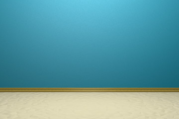 Empty room with blue wall