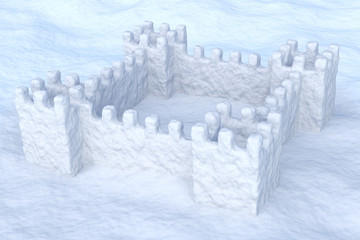 Toy show fort on the snow