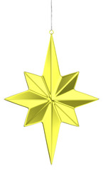 Golden christmas star decoration