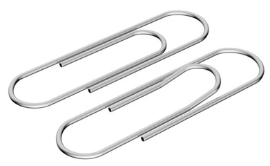 Metal clip diagonal view