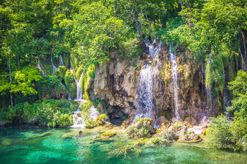 Waterfall, Plitvicer Lakes NP,  Croatia