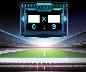 football stadium with score screen collection number 09
