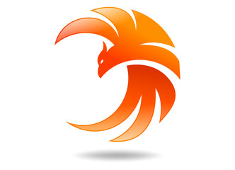 logo bird, phoenix abstract