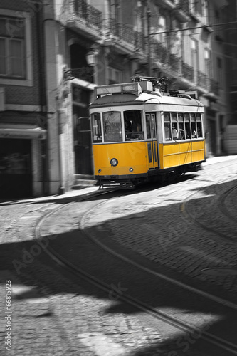 Famous Tram number 28 in Lisbon - 66815923