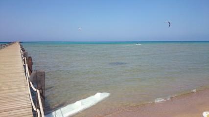Kitesurfing on the Red Sea