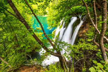 Hidden waterfall, Plitvicer Lakes NP,  Croatia