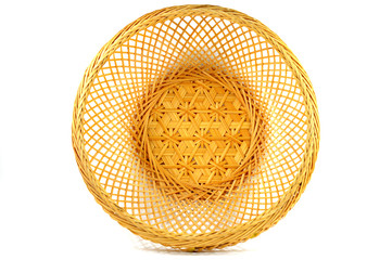 Traditional Thai bamboo basket texture