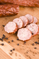 sausage with black pepper and cumin