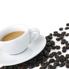 Espresso With Beans - Clipping Path