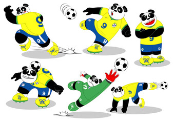Panda Soccer All Action2
