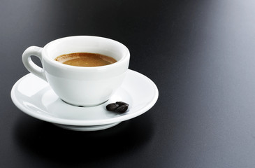 italian expresso with beans