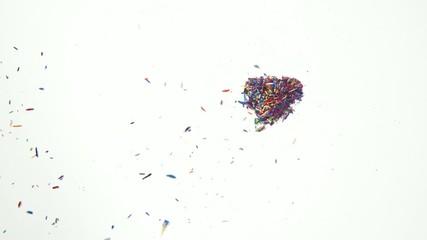 Colorful Pencil Shaving arrange to heart shape