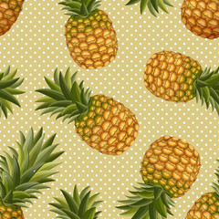 seamless texture of pineapple