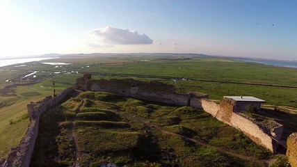 Enisala. Old medieval stronghold in Dobrogea, Romania