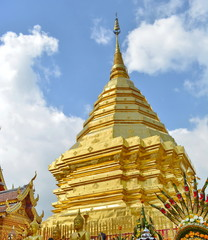 Golden beauty pagoda