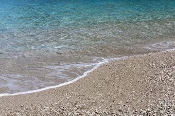 Kiesstrand in Griechenland