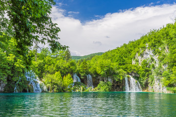 Small waterfall, Plitvicer Lakes NP,  Croatia