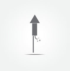 fireworks rocket icon