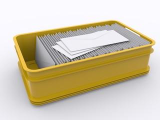 Plastik Kiste mit Briefen