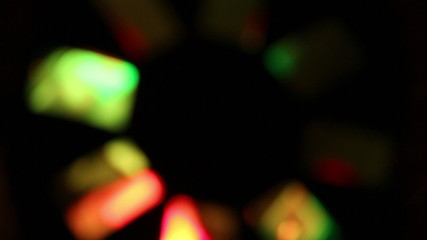 Background of colorful blurred lights in pub or disco