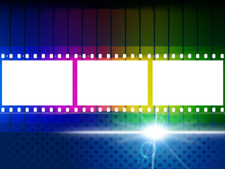 Color Copyspace Means Negative Film And Blank