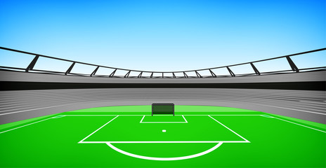 football stadium center view with sky design my own