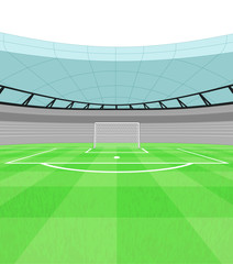football shooter goal view on playground vector
