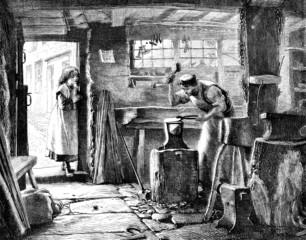 blacksmith in his workshop
