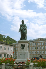 Statue of Mozart in Salzburg