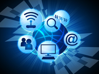 Social Media Means World Wide Web And Communicate