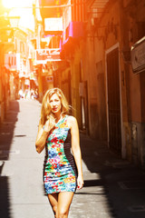 Young woman in Palma De Mallorca