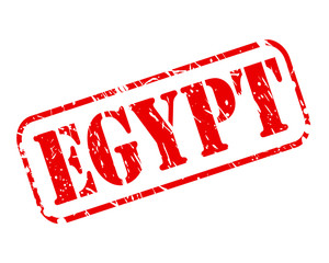 EGYPT red stamp text