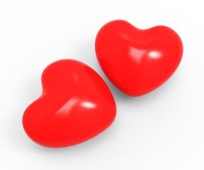 Hearts Love Represents Valentine Day And Compassionate