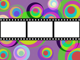 Filmstrip Copyspace Indicates Color Colour And Multicoloured