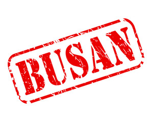 BUSAN red stamp text