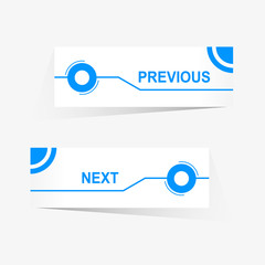 Vector Previous and Next navigation buttons
