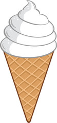 Ice Cream Cone. Illustration Isolated on white