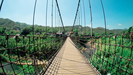 Fisheye view of Hanging Bridge